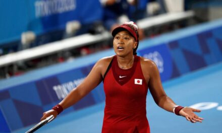 Naomi Osaka reacts to shock Marketa Vondrousova loss