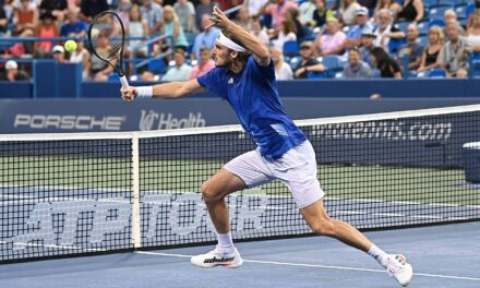 Tsitsipas' 'Game Changer' Hold Lifts Him To QFs